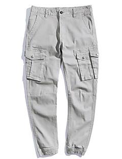 billige Herrebukser og -shorts-Herre Vintage / Grunnleggende Chinos Bukser Ensfarget