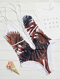 billige Bikinier og damemote 2017-Dame Med stropper En del - Trykt mønster, Cheeky Geometrisk