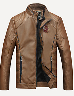 Χαμηλού Κόστους Ανδρικά μπουφάν και παλτό-Ανδρικά Jeci Piele Βασικό - Μονόχρωμο