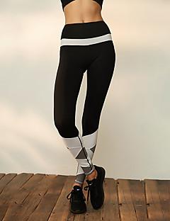 abordables Exercice, Fitness & Yoga-Femme Pantalon de yoga - Noir / Blanc Des sports Spandex Collants / Leggings Tenues de Sport Respirabilité, Compression Elastique