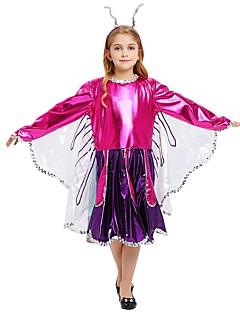 billige Halloweenkostymer-Prinsesse Kostume Jente Tenåring Halloween Halloween Karneval Barnas Dag Festival / høytid Drakter Lilla Ensfarget Halloween
