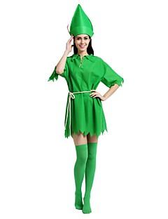 billige Halloweenkostymer-Robin Hood Kostume Unisex Videregående skole Halloween Halloween Karneval Maskerade Festival / høytid Polyester Drakter Mørkegrønn Ensfarget Halloween