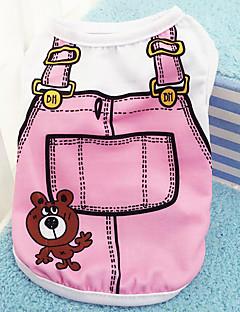 billiga Hundkläder-Hund / Katt / Små pälsdjur Jakke / Livväst Hundkläder Tecknat / Figur Mörkblå / Rosa / Ljusblå Cotton Kostym För husdjur Dam Sport och utomhus / Ledig / Sportig