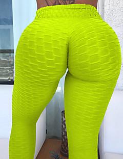 billiga Träning-, jogging- och yogakläder-Dam Jacquard / Ruched Butt Lifting Yoga byxor - Marin, Grå, Påsklilja sporter Mode Cykling Tights / Leggings Löpning, Fitness, Gym Sportkläder Lättvikt, Push up-byxor, Magkontroll Hög Elasisitet