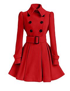 ieftine Îmbrăcăminte Damă de Exterior-Pentru femei Palton De Bază - Mată