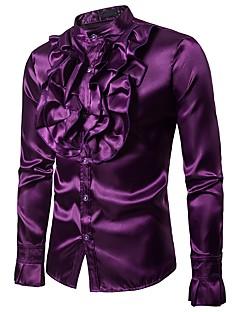 billige Herremote og klær-Skjorte Herre - Ensfarget, Drapering Grunnleggende