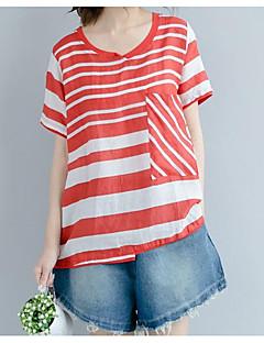 billige Kvinde Toppe-Dame - Ensfarvet Bomuld Bluse