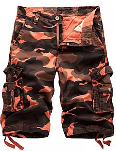 billige Herrebukser og -shorts-Herre Militær Shorts Bukser - Kamuflasje Rød / Strand