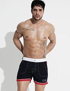 billige Herrebukser og -shorts-Herre Aktiv / Grunnleggende Chinos / Shorts Bukser - Stripet / Fargeblokk Lapper Svart / Sport / Sommer / Strand