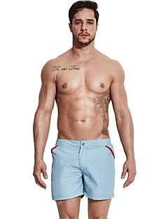 billige Herrebukser og -shorts-Herre Aktiv / Grunnleggende Chinos / Shorts Bukser - Ensfarget Grå / Sport / Sommer / Strand