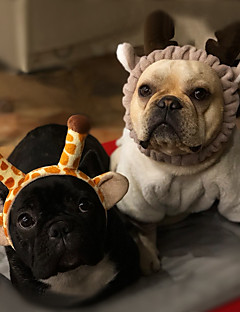 billiga Hundkläder-Gnagare / Hund / Kaniner Rosetter Hundkläder Enfärgad Rosa / Vit / Svart / Khaki grön Polär Ull Kostym För husdjur Sport och utomhus / Huvudbonader