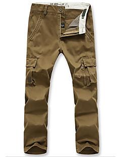 billige Herrebukser og -shorts-Herre Tynn Chinos Bukser Ensfarget