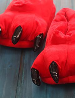 billige Kigurumi-Voksne Kigurumi-tøfler Kat / Totoro Onesie-pysjamas Kostume polyester / Bomull Grønn / Blå / Rosa Cosplay Til Pysjamas med dyremotiv Tegnefilm Halloween Festival / høytid