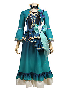 """billige Anime cosplay-Inspirert av BanG Dream Cosplay Anime  """"Cosplay-kostymer"""" Cosplay Klær Annen 3/4 ermer Frakk / Skjørte / Kjole Til Unisex Halloween-kostymer"""