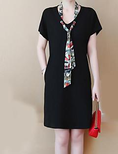 Χαμηλού Κόστους Φορέματα Μεγάλα Μεγέθη-Γυναικεία Δουλειά Λεπτό Θήκη Φόρεμα Πάνω από το Γόνατο Λαιμόκοψη V