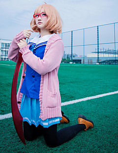 """billige Anime cosplay-Inspirert av Beyond the Boundary Kuriyama Mirai Anime  """"Cosplay-kostymer"""" Cosplay Klær Matros Langermet Halsklut / Skjørt / Topp Til Dame"""