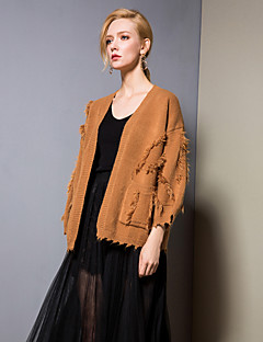 baratos Suéteres de Mulher-Mulheres Activo Carregam - Sólido, Franjas / Patchwork