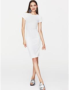 Χαμηλού Κόστους Επιλογές Συντακτών-Γυναικεία Κομψό στυλ street Λεπτό T Shirt Φόρεμα - Μονόχρωμο Μίντι