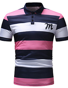 povoljno Muške polo majice-Polo Muškarci - Osnovni Dnevno Prugasti uzorak / Color block Print