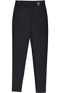 baratos Leggings para Mulheres-Mulheres Metálica / Básico Legging - Sólido Cintura Alta