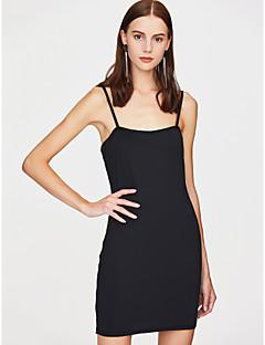 baratos Vestidos de Festa-Mulheres Para Noite Básico Moda de Rua Evasê Tubinho Bainha Vestido - Frente Única, Côr Sólida Com Alças Ombro a Ombro Mini Vermelho
