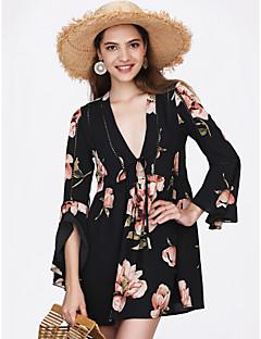 baratos Vestidos de Festa-Mulheres Fofo balanço Vestido Sólido Mini