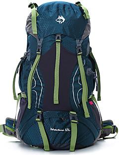 billiga Ryggsäckar och väskor-65 L Ryggsäck - Regnsäker, Bärbar, Svettavvisande Utomhus Klättring, Camping, Resor Nylon Röd, Forest Grön, Kamoflage