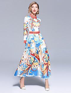 billige Nytt i kjoler-Dame Bohem / Gatemote Swing Kjole - Dyr, Trykt mønster Maksi