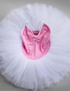 tanie Stroje baletowe-Balet Sukienki Dla dziewczynek Spektakl Spandeks Marszcząca się Bez rękawów Tutu