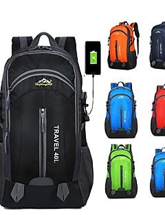 billiga Ryggsäckar och väskor-40 L Ryggsäckar - Lättvikt, Regnsäker, Bärbar Utomhus Camping, Cykel, Resor Polyester Röd, Grön, Blå