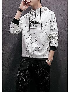 tanie Miesten hupparit ja collegepuserot-męska bluza z kapturem z długimi rękawami - z listwą / kolorowym kapturem