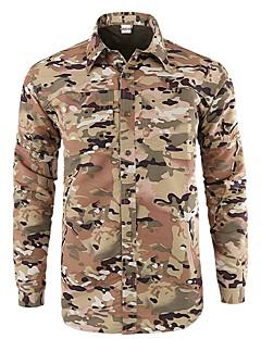 baratos Camisas para Trilhas-Homens Jaqueta de Trilha Ao ar livre Secagem Rápida, Vestível, Respirabilidade Blusas N / D Acampar e Caminhar / Caça / Militar / Resistente a UV