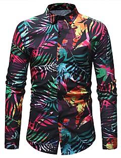 billige Herremote og klær-Skjorte Herre - Blomstret / Geometrisk, Trykt mønster Grunnleggende