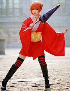baratos Cosplay Anime-Inspirado por Gintama Gintoki Sakata / Kagura Anime Fantasias de Cosplay Ternos de Cosplay / Chimono Anime Ocasiões Especiais Para Mulheres