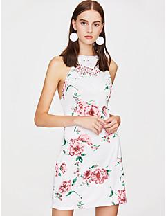 billige Kjoler til nyttårsaften-Dame Kroppstett Kjole Kjole - Blomstret Mini