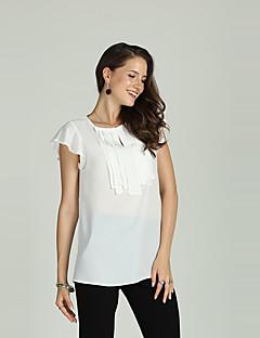 Χαμηλού Κόστους Γυναικείες Μπλούζες-Γυναικεία T-shirt Δουλειά / Βασικό Μονόχρωμο