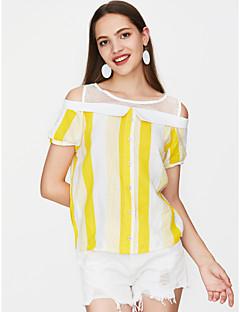 Χαμηλού Κόστους Γυναικείες Μπλούζες-Γυναικεία T-shirt Βίντατζ Μονόχρωμο Φούντα Γερανός