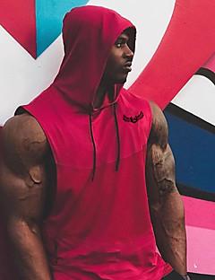 billiga Träning-, jogging- och yogakläder-Herr Spetsknuten Linne för jogging - Svart, Armégrön, Röd sporter Bokstav & Nummer Mesh Huvtröja Löpning, Fitness, Gym Ärmlös Sportkläder Andningsfunktion, Snabb tork, Mjuk Elastisk / Svettavvisande