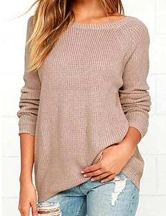 tanie Swetry damskie-Damskie Wyjściowe Halter Pulower Solidne kolory Długi rękaw