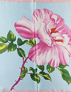 baratos Cachecóis da Moda-Mulheres Básico Quadrangular - Com Cordão Floral