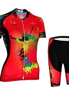 billige Sett med sykkeltrøyer og shorts/bukser-Malciklo Fôrede sykkelshorts / Sykkeljersey - Rød Sykkel Fort Tørring, Anatomisk design