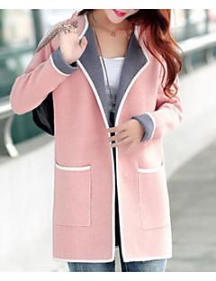 Χαμηλού Κόστους Γυναικεία πουλόβερ σε μεγάλα μεγέθη-Γυναικεία Εξόδου Μακρυμάνικο Λεπτό Ζακέτα - Συνδυασμός Χρωμάτων
