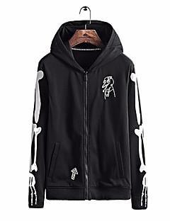 baratos Abrigos e Moletons Masculinos-hoodie de manga longa masculina - bloco de cor com capuz