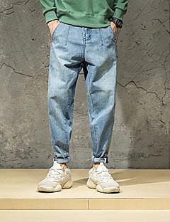 billige Herrebukser og -shorts-Herre Grunnleggende Jeans Bukser Stripet