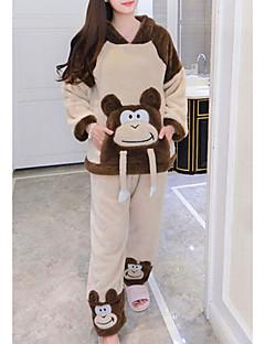 billige Moteundertøy-Dame Med hette Dress Pyjamas - Lapper