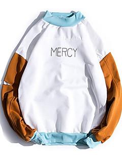 baratos Abrigos e Moletons Masculinos-camisola de mangas compridas para homem - suporte de bloco carta / cor