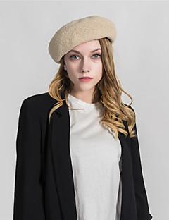 billige Hatter til damer-Dame Grunnleggende Beret Ensfarget