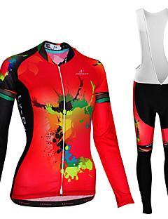 billige Sett med sykkeltrøyer og shorts/bukser-Malciklo Sykkeljersey med bib-tights / Sykkeljersey - Hvit / Svart Sykkel Fort Tørring Sebra / Mikroelastisk