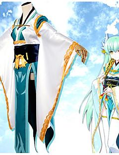 """billige Anime cosplay-Inspirert av Skjebne / Grand Order Kiyohime Anime  """"Cosplay-kostymer"""" Cosplay Klær Blomster / botanikk Kimono Frakke / Kostume Til Dame Halloween-kostymer"""