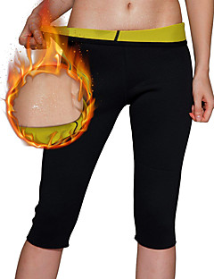 billige Løbetøj-Slankende / Capris Leggings Med Neopren Strækkende, Hot Sved Vægttab, Fedtforbrænder, Sportslig mave, Brænder fedt Til Herre / Dame Yoga / Fitness / Træningscenter Ben, Mave